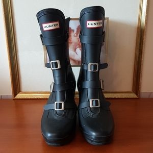 Hunter Boots with embellished straps size 9